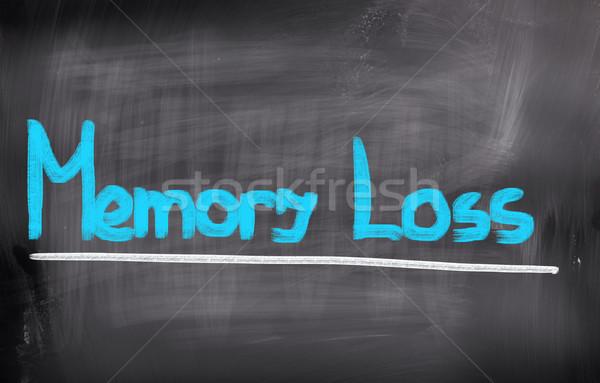 Hafıza kaybı tıbbi bakım kavram akla sağlık Stok fotoğraf © KrasimiraNevenova