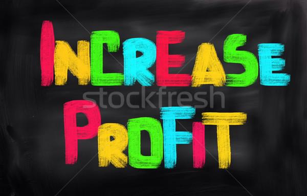 Crescimento lucro dinheiro financiar sucesso marketing Foto stock © KrasimiraNevenova
