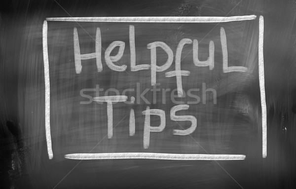 Helpful Tips Concept Stock photo © KrasimiraNevenova