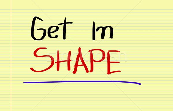 Get In Shape Concept Stock photo © KrasimiraNevenova