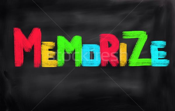 Stock photo: Memorize Concept