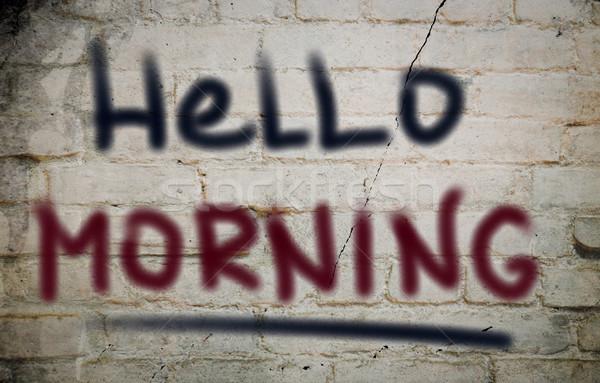 Stock photo: Hello Morning Concept