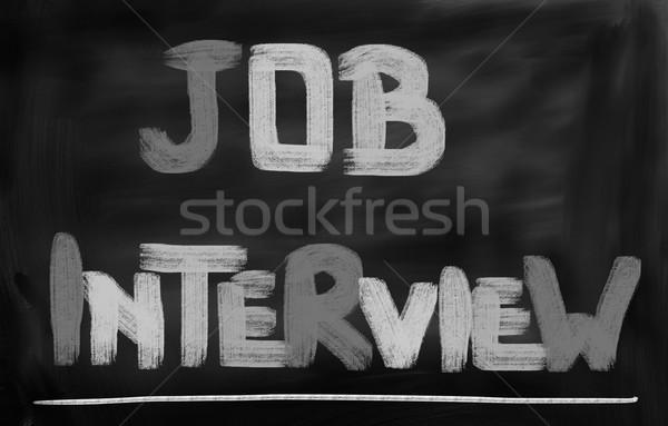 Sollicitatiegesprek vergadering baan informatie interview concept Stockfoto © KrasimiraNevenova