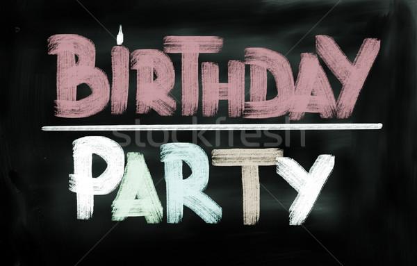 Birthday Party Concept Stock photo © KrasimiraNevenova