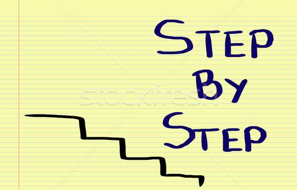 Step By Step Concept Stock photo © KrasimiraNevenova