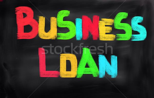Business lening financieren winkel succes cash Stockfoto © KrasimiraNevenova