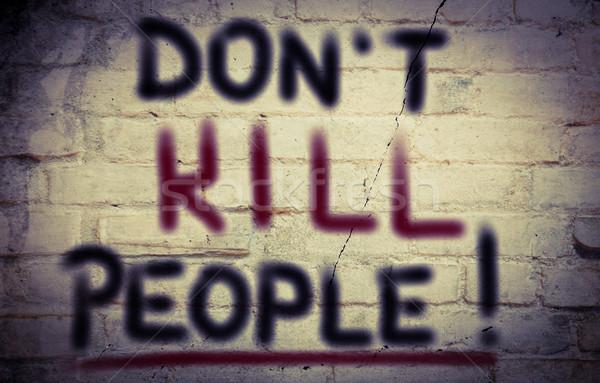 Geen terreur veiligheid dood team target Stockfoto © KrasimiraNevenova