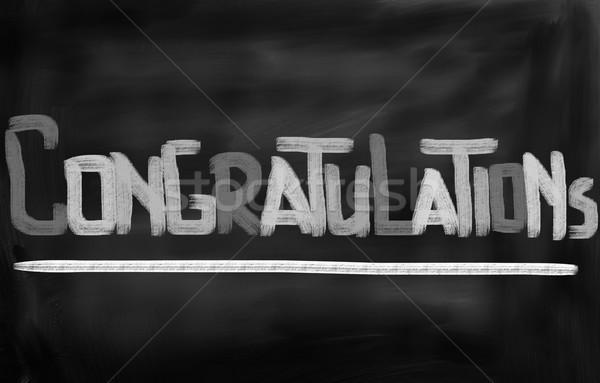 Gratulacje strony uczelni absolwent uroczystości przypadku Zdjęcia stock © KrasimiraNevenova