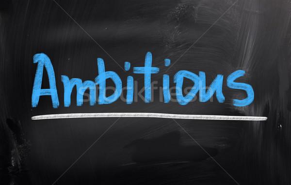 Ambicioso negócio sonho contabilidade começar conceito Foto stock © KrasimiraNevenova