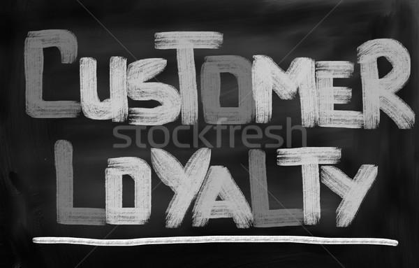 Müşteri bağlılık arka plan pazar güç şirket Stok fotoğraf © KrasimiraNevenova