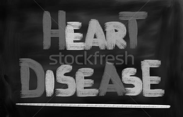 Hartziekte hart schoonheid borst pijn borst Stockfoto © KrasimiraNevenova