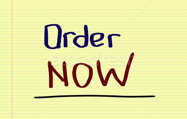 Order Now Concept Stock photo © KrasimiraNevenova