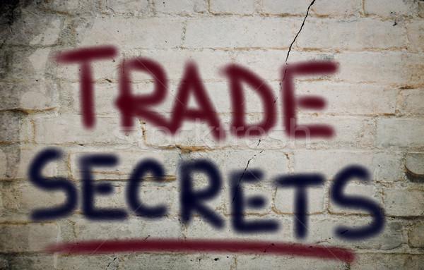 торговли Секреты бизнеса связи кожа информации Сток-фото © KrasimiraNevenova