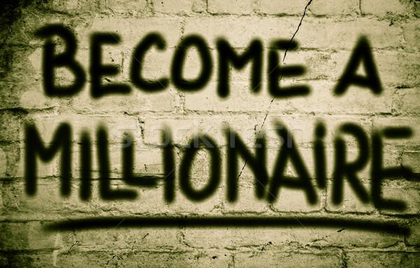Foto stock: Milionário · fundo · sucesso · vencedor · financeiro · plano