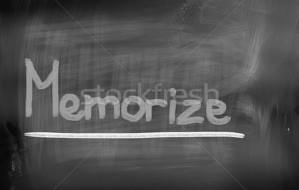 Memorize Concept Stock photo © KrasimiraNevenova