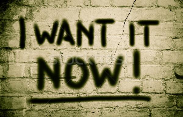 I Want It Now Concept Stock photo © KrasimiraNevenova