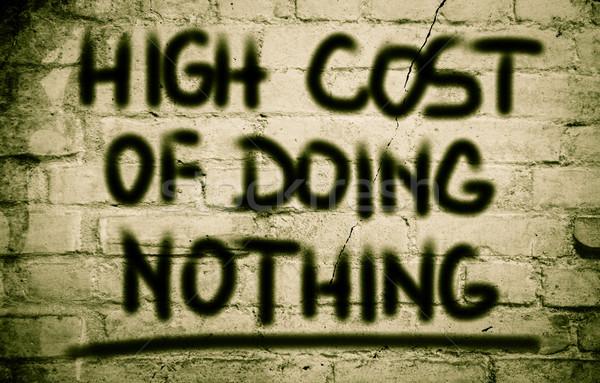 Hoog kosten niets financieren droom target Stockfoto © KrasimiraNevenova