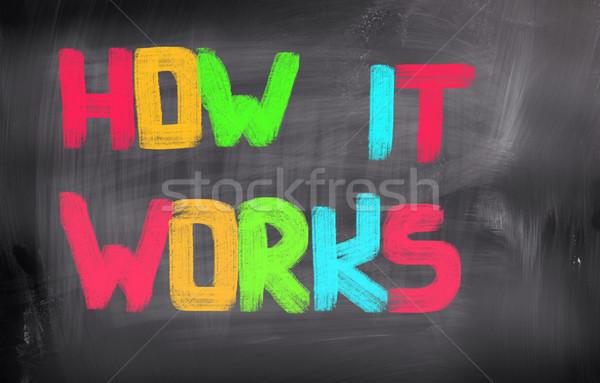 How It Works Concept Stock photo © KrasimiraNevenova