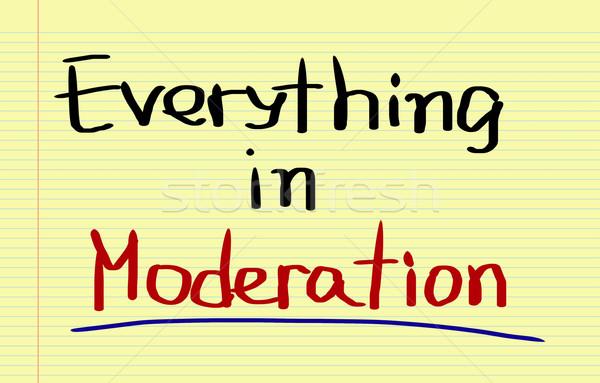 Everything In Moderation Concept Stock photo © KrasimiraNevenova