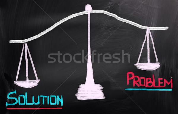 Oplossing onderwijs wetenschap communicatie macht succes Stockfoto © KrasimiraNevenova