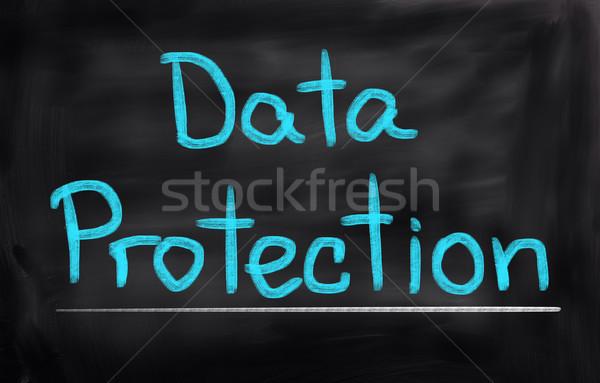 データ保護 コンピュータ サーバー セキュリティ ノートブック デジタル ストックフォト © KrasimiraNevenova