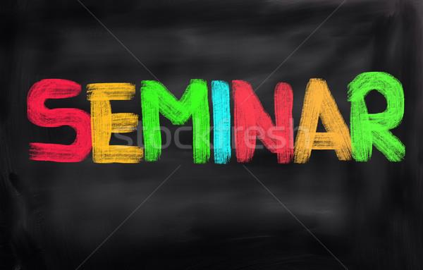 Seminarium spotkanie nauczyciel przemysłu sukces zawodowych Zdjęcia stock © KrasimiraNevenova