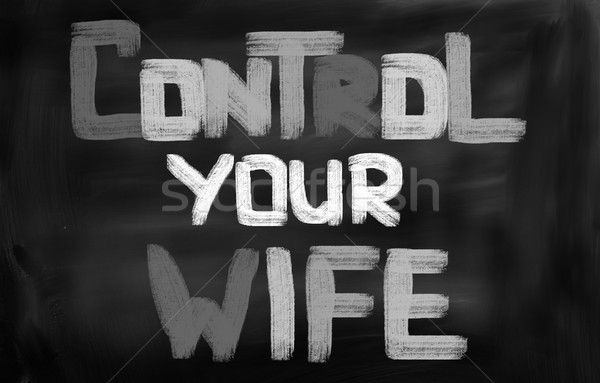 Controle vrouw achtergrond communicatie macht vrouwelijke Stockfoto © KrasimiraNevenova