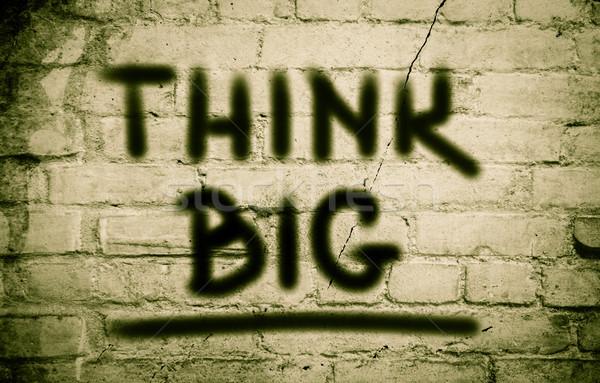 Think Big Concept Stock photo © KrasimiraNevenova