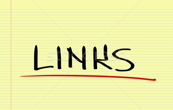 Linkler Internet dizayn zaman pazarlama veri Stok fotoğraf © KrasimiraNevenova