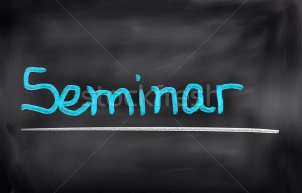 Seminar vergadering leraar industrie succes professionele Stockfoto © KrasimiraNevenova