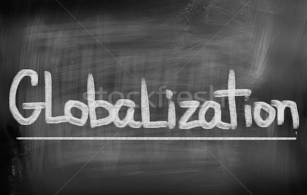 Globalización edificio mundo grupo equipo empresarial Foto stock © KrasimiraNevenova