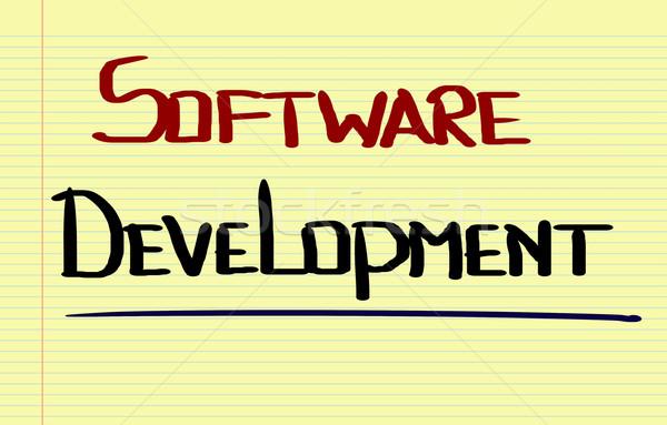 Yazılım gelişme dizayn teknoloji yönetim stil Stok fotoğraf © KrasimiraNevenova