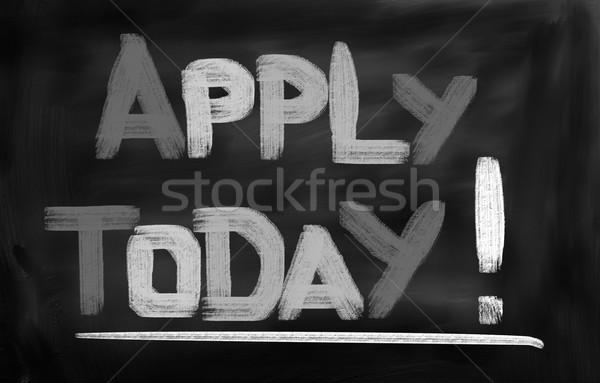 Dzisiaj wiadomość zatrudnienie teraz ostateczny termin Zdjęcia stock © KrasimiraNevenova