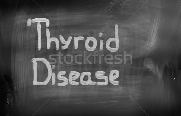 Betegség beteg hideg vírus egészségügy felnőtt Stock fotó © KrasimiraNevenova