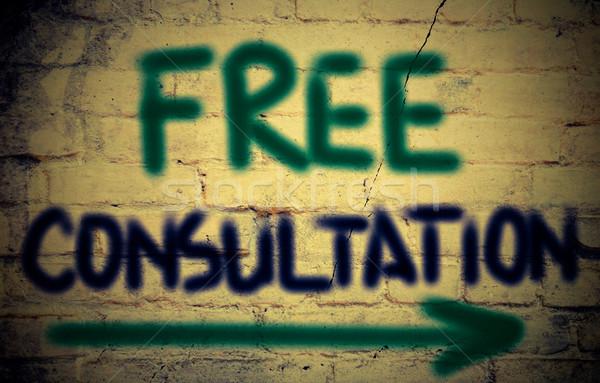 Libero consultazione sostegno discussione client pianificazione Foto d'archivio © KrasimiraNevenova