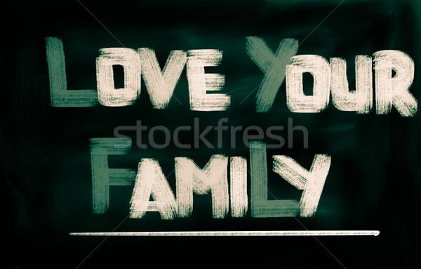 Amor família pai apoiar juntos proteção Foto stock © KrasimiraNevenova