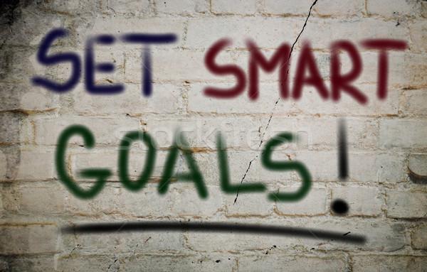 Set Smart Goals Concept Stock photo © KrasimiraNevenova