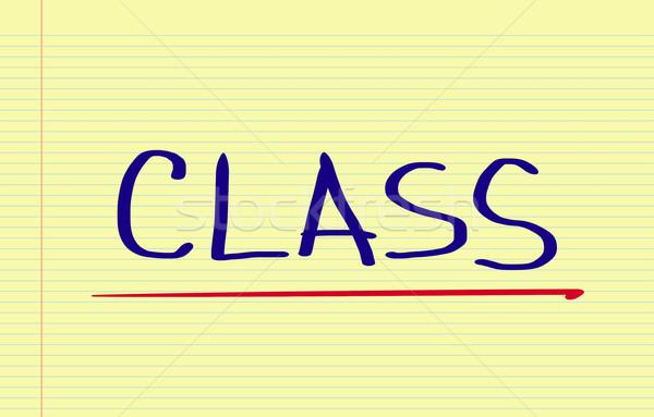Class Concept Stock photo © KrasimiraNevenova