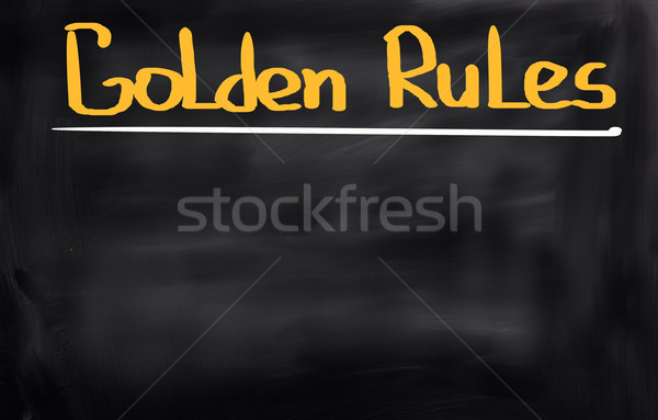 Golden Regeln Corporate rechtlichen Konzept Kontrolle Stock foto © KrasimiraNevenova