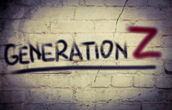Generation Z Concept Stock photo © KrasimiraNevenova