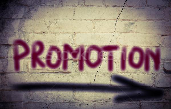 Promotie tijd informatie reclame verkoop detailhandel Stockfoto © KrasimiraNevenova