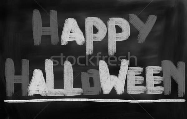 Gelukkig halloween partij ontwerp najaar horror Stockfoto © KrasimiraNevenova