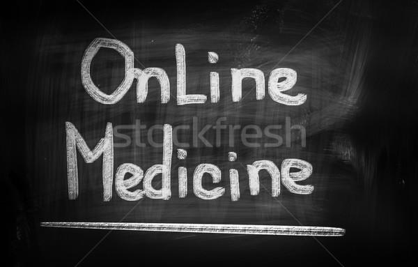 Online Medicine Concept Stock photo © KrasimiraNevenova