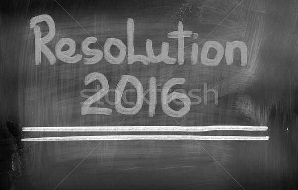 Résolution 2016 temps succès nouvelle concept Photo stock © KrasimiraNevenova
