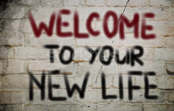 Karşılama yeni hayat hayat iş gelecek başarı Stok fotoğraf © KrasimiraNevenova