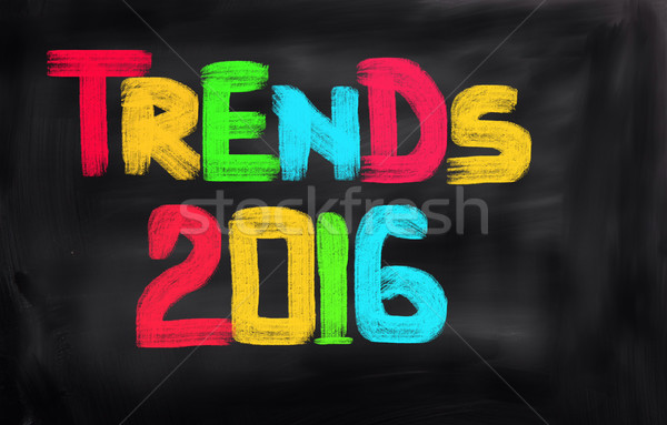 Tendências 2016 negócio internet tecnologia corporativo Foto stock © KrasimiraNevenova
