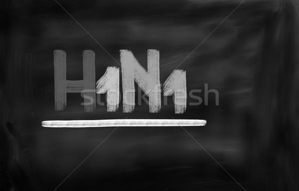 H1n1 virus medici care umani biologia Foto d'archivio © KrasimiraNevenova