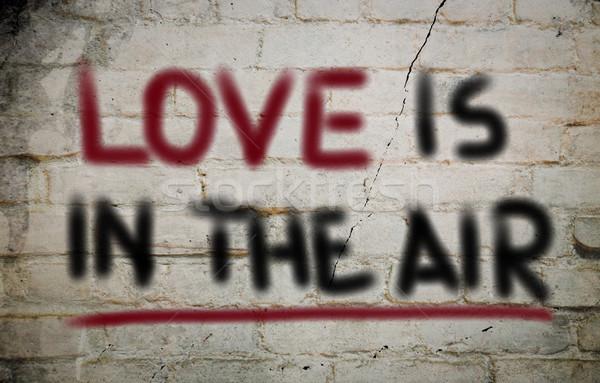 Szeretet levegő terv művészet jókedv gyönyörű Stock fotó © KrasimiraNevenova