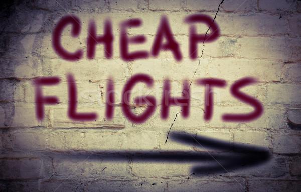 Pas cher vols livre fond Voyage avion Photo stock © KrasimiraNevenova