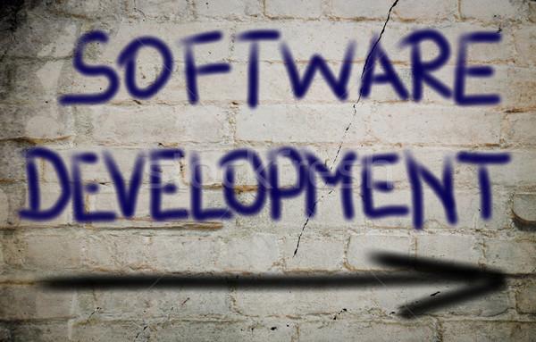 Yazılım gelişme teknoloji arka plan web yönetim Stok fotoğraf © KrasimiraNevenova